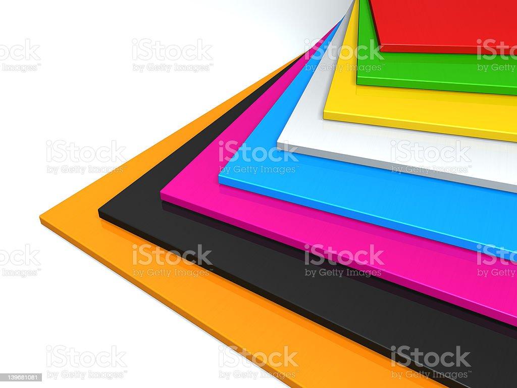 colored plastic stock photo