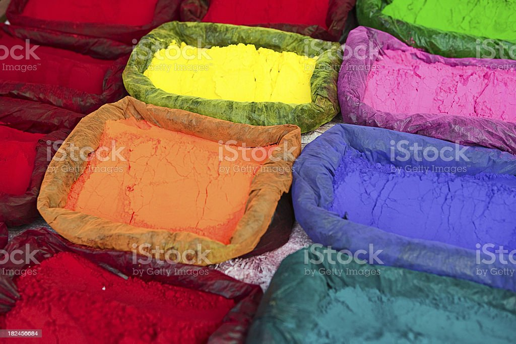 Colored powder, abir stock photo