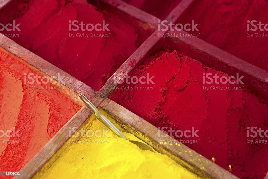 Colored powder, abir royalty-free stock photo