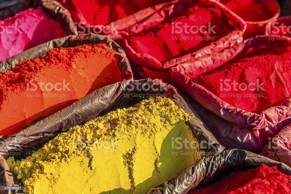 Colored powder, abir stock photo