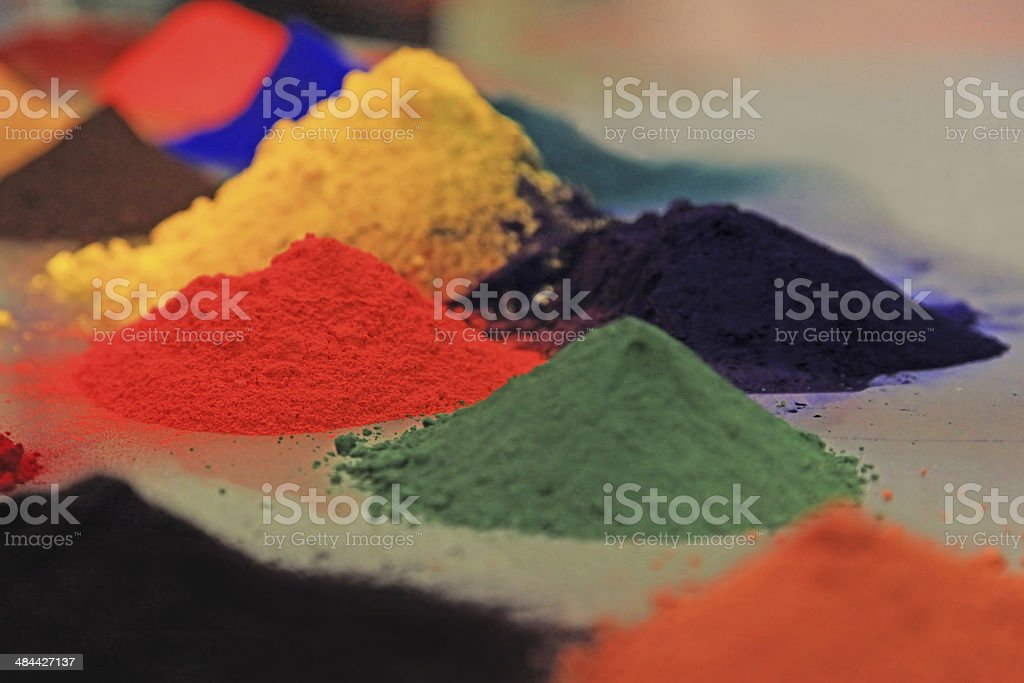Colored Powder Coating stock photo