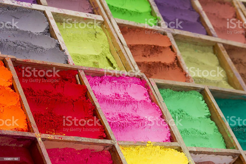 Colored powder royalty-free stock photo