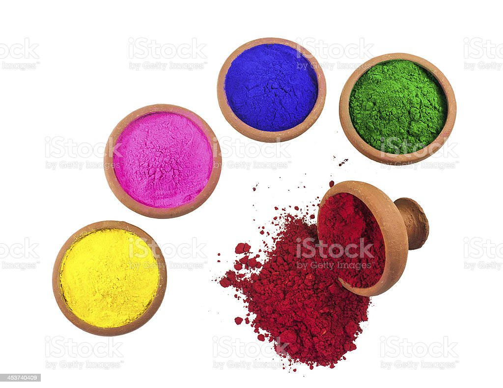 Colored Powders royalty-free stock photo