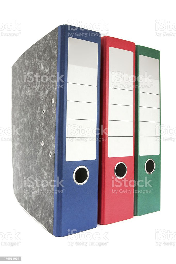 Colored Ring Binders royalty-free stock photo