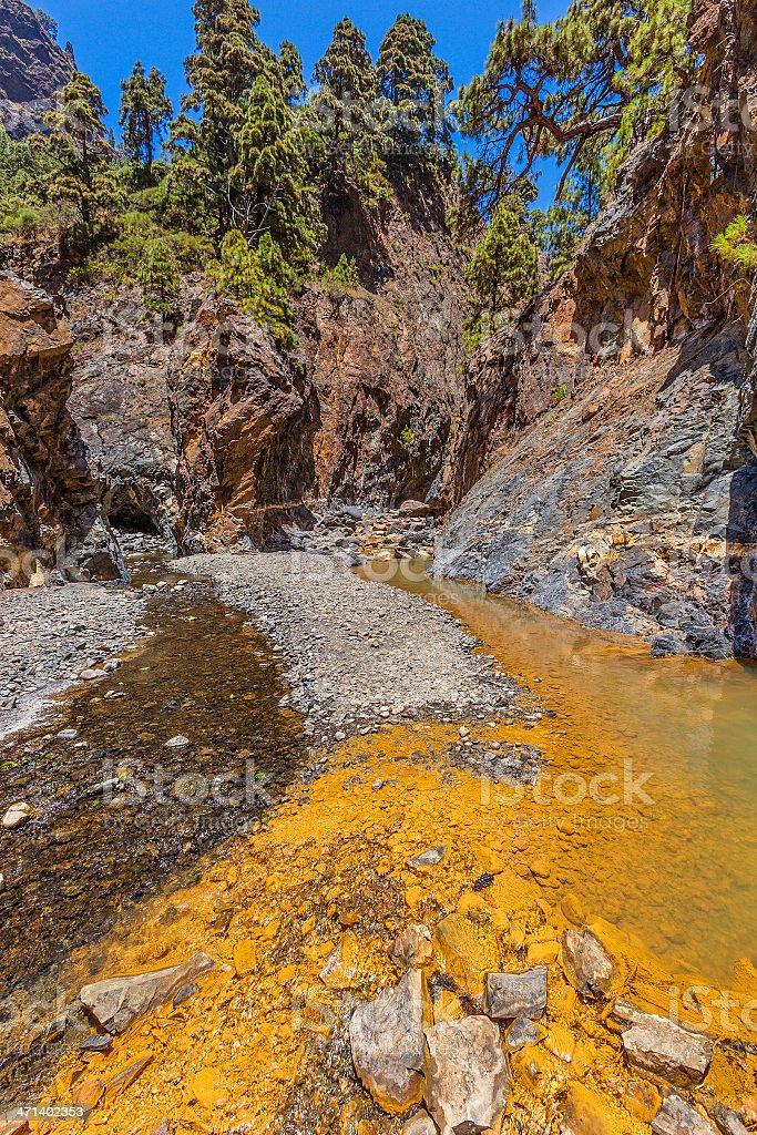Colored River, La Palma royalty-free stock photo