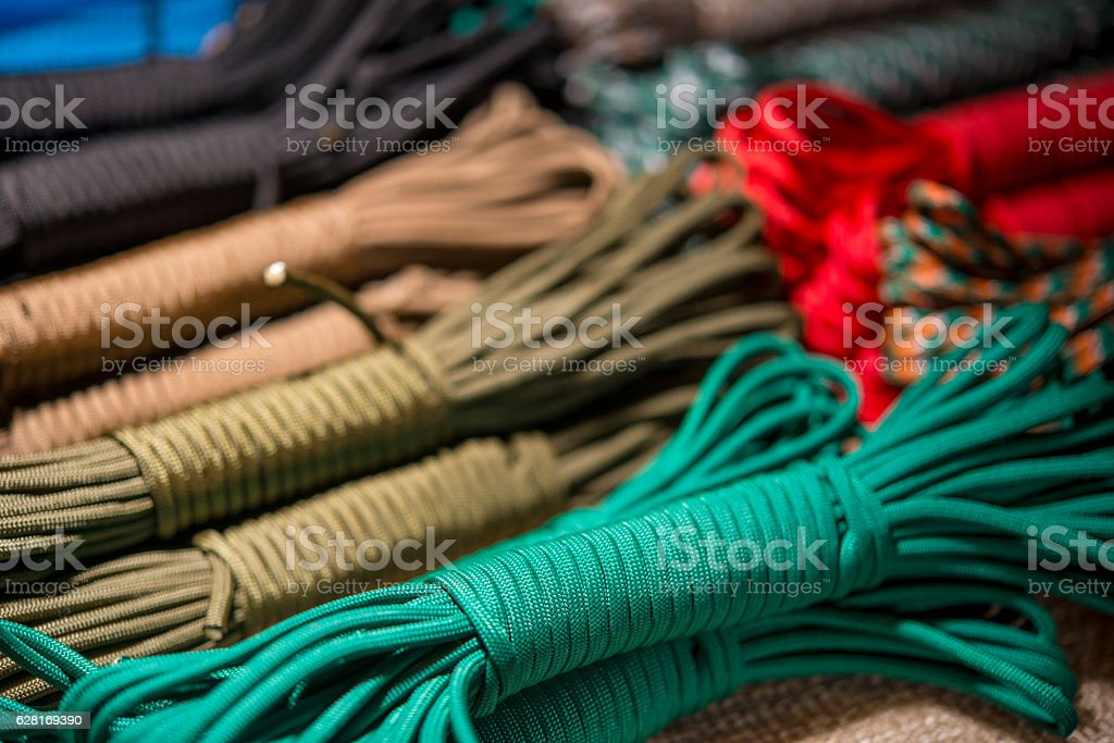 colored rope stock photo
