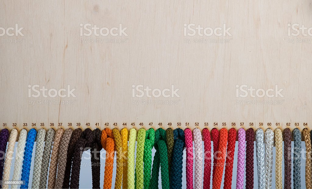 Colored ropes stock photo