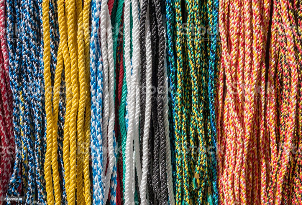 Colored ropes royalty-free stock photo