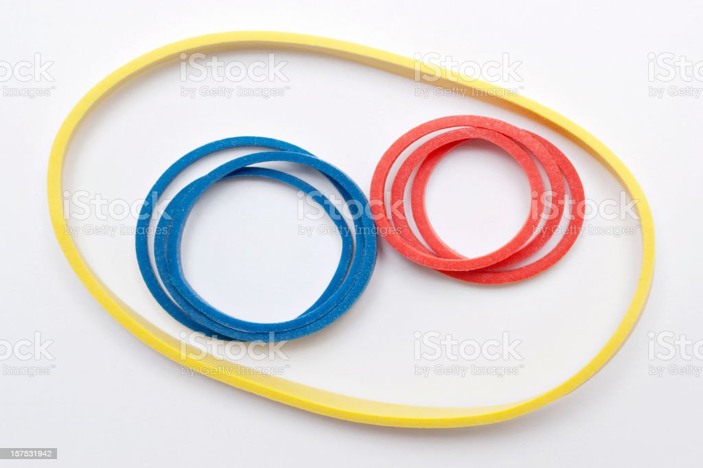 colored rubber bands royalty-free stock photo