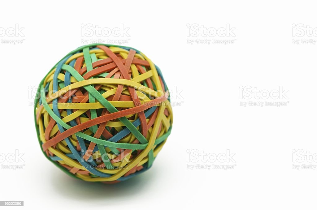 Colored rubber bands stock photo