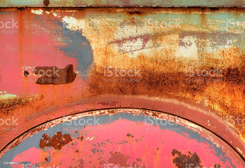 Colored rust royalty-free stock photo