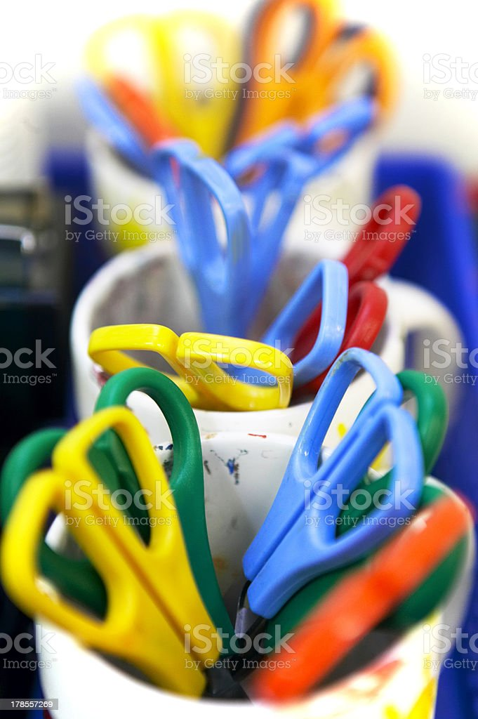Colored scissors royalty-free stock photo