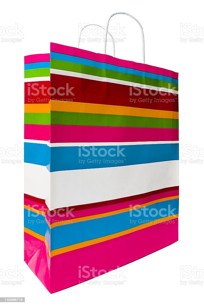 Colored Shopping Bag royalty-free stock photo