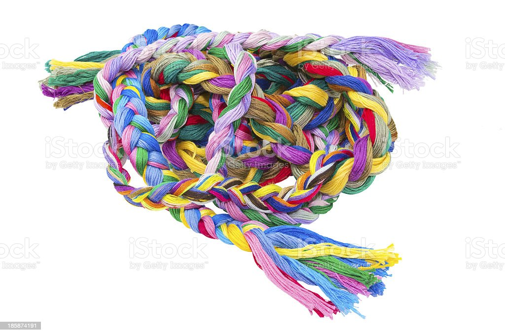 Colored skein royalty-free stock photo