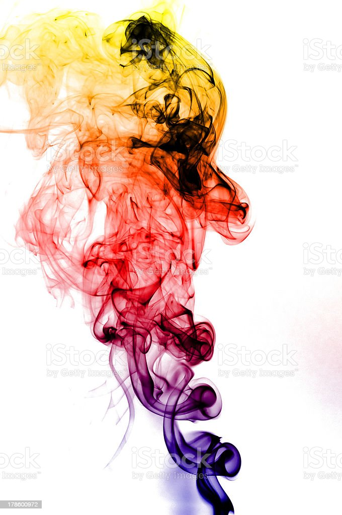 colored smoke isolated royalty-free stock photo