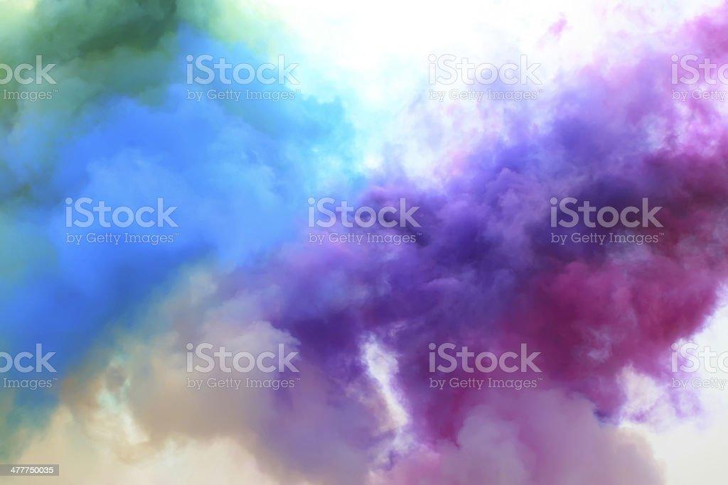 colored smoke royalty-free stock photo
