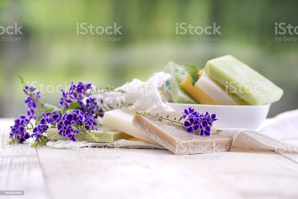 Colored Soap Flakes stock photo