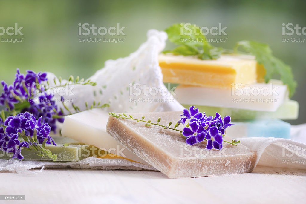 Colored Soap Flakes royalty-free stock photo