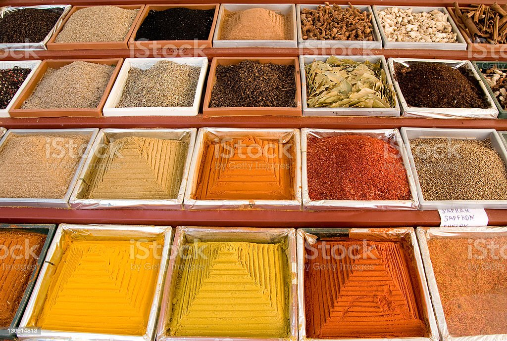 colored spices royalty-free stock photo