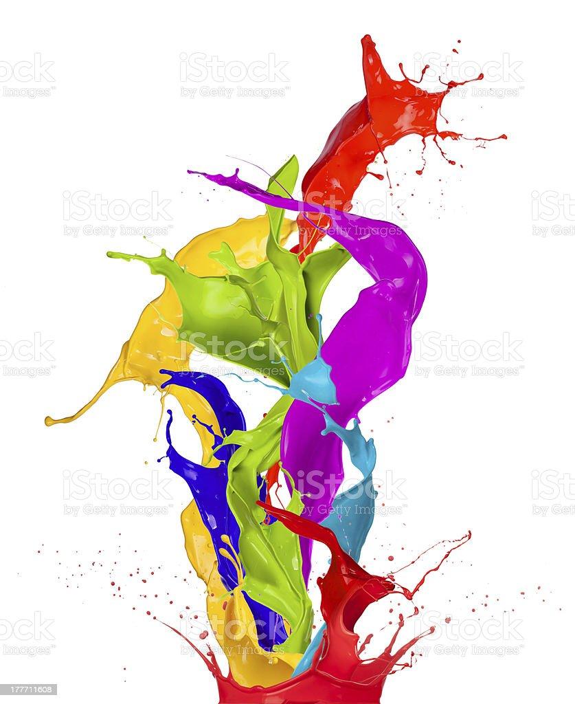 Colored splashes royalty-free stock photo