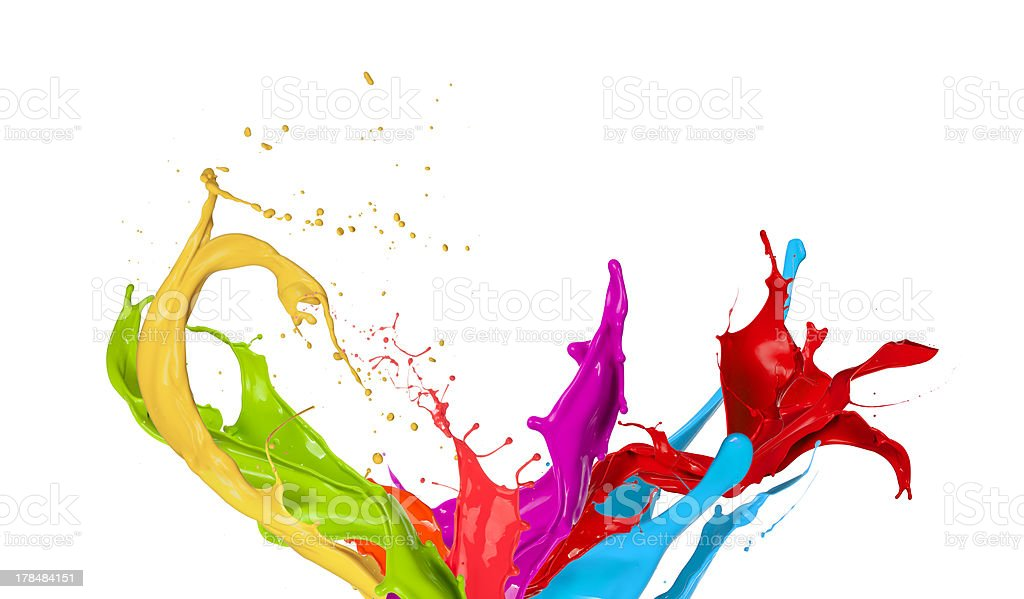 Colored splashes royalty-free stock photo