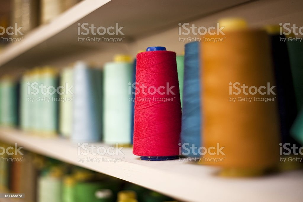 Colored Spools of Thread royalty-free stock photo