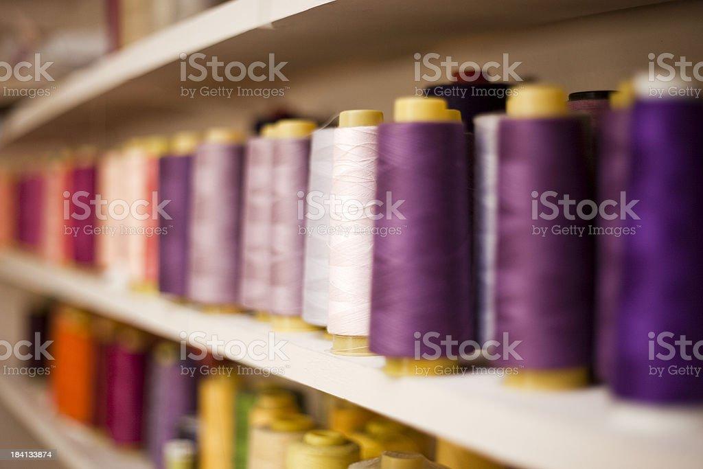 Colored Spools of Thread stock photo