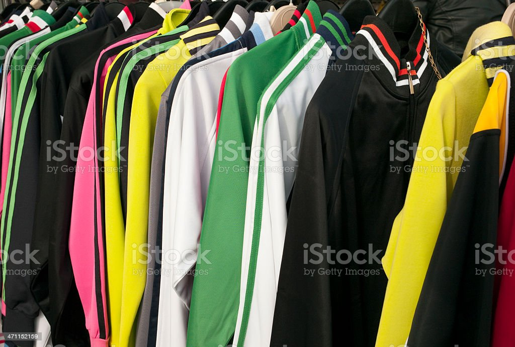 Colored sportswear royalty-free stock photo