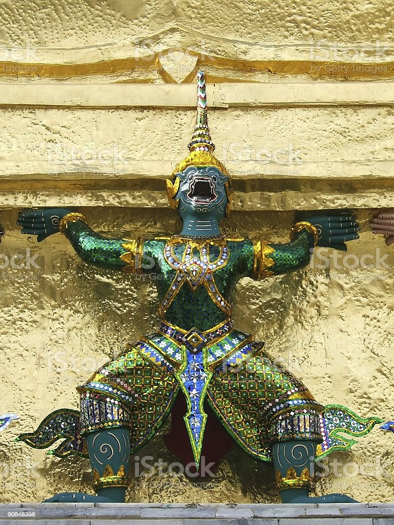 Colored statue royalty-free stock photo
