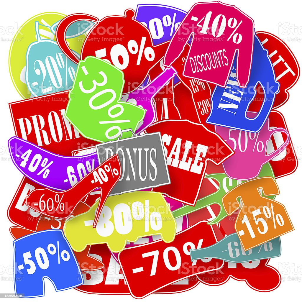Colored stickers royalty-free stock photo