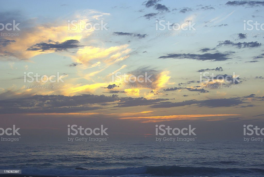Colored sunset royalty-free stock photo