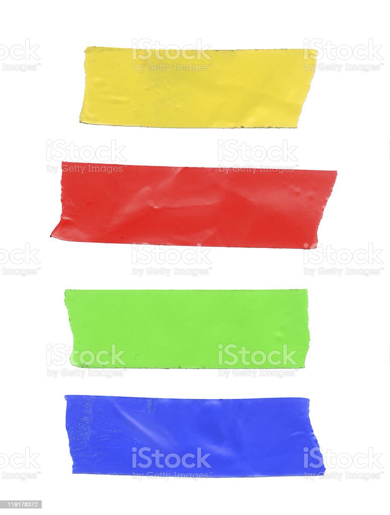 Colored Tape stock photo
