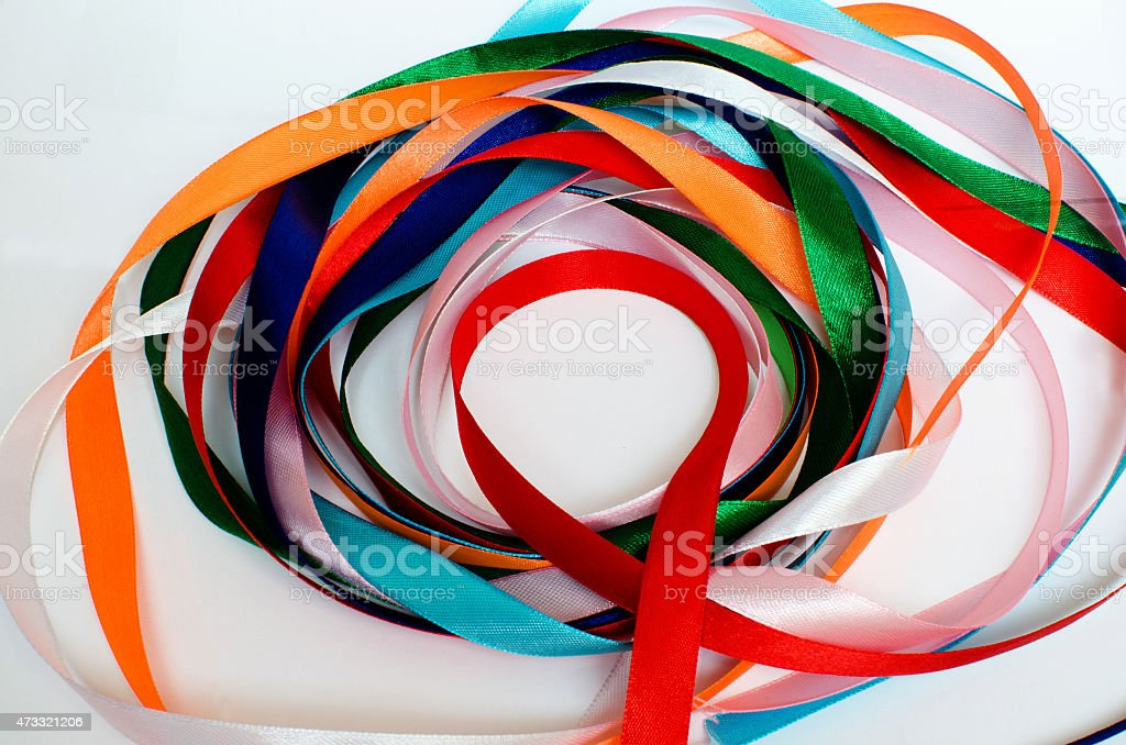 Colored tapes stock photo