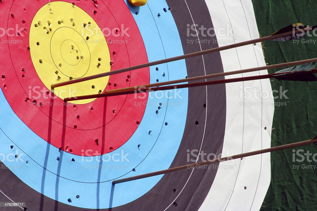 Colored target royalty-free stock photo
