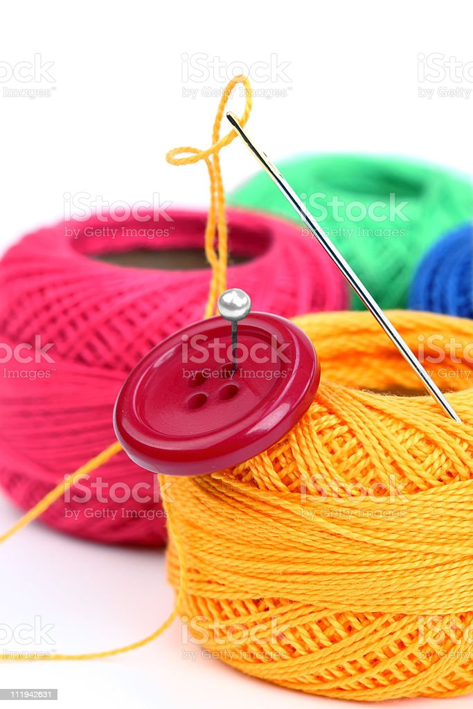 Colored thread stock photo
