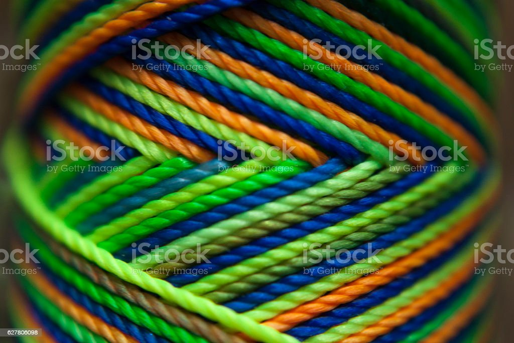 Colored thread stock photo