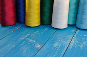 colored threads for sewing and embroidery