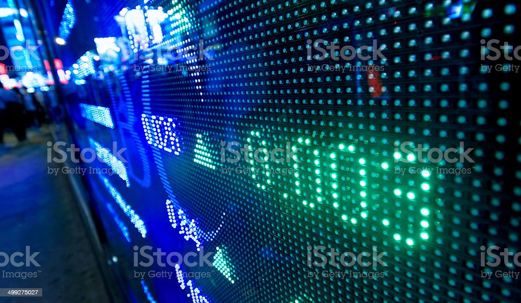 Colored ticker board stock photo