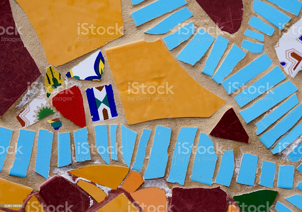 colored tile pieces stock photo