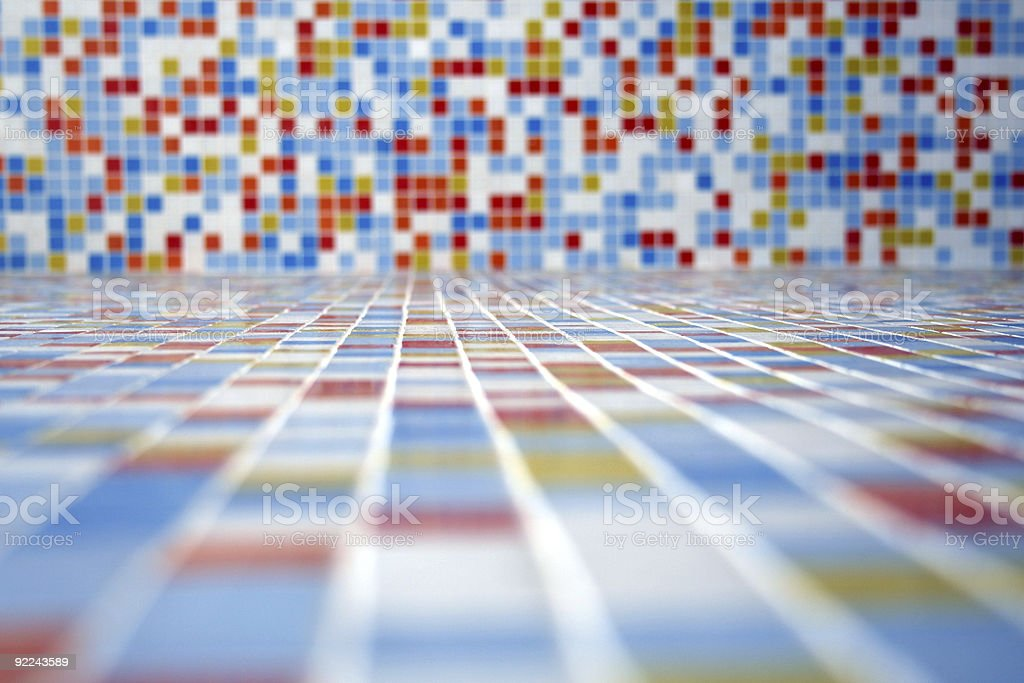 Colored tiled landscape. royalty-free stock photo