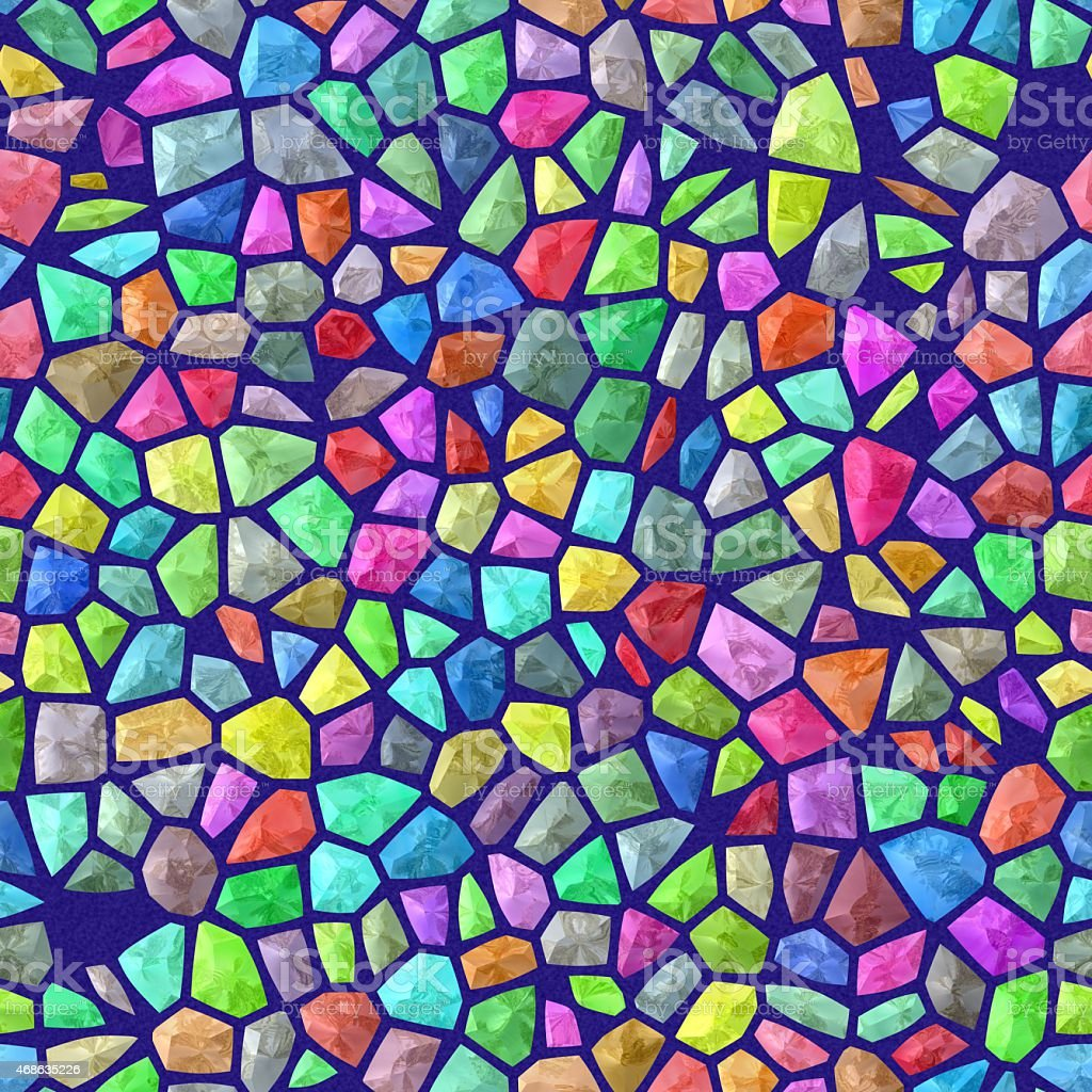 Colored tiles seamless mosaic stock photo