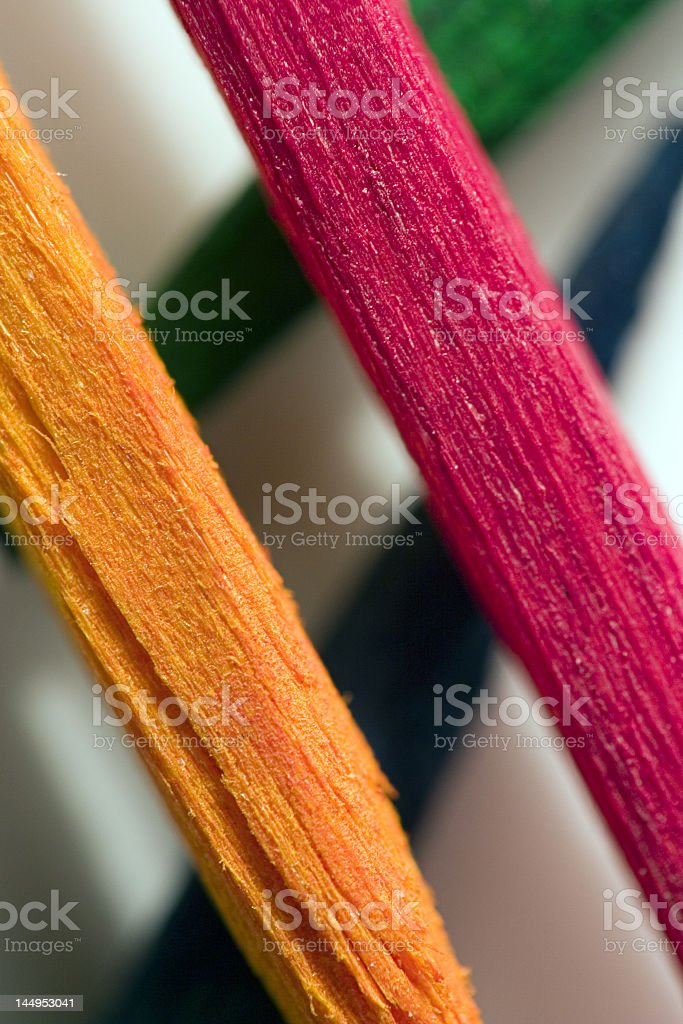 Colored toothpicks royalty-free stock photo