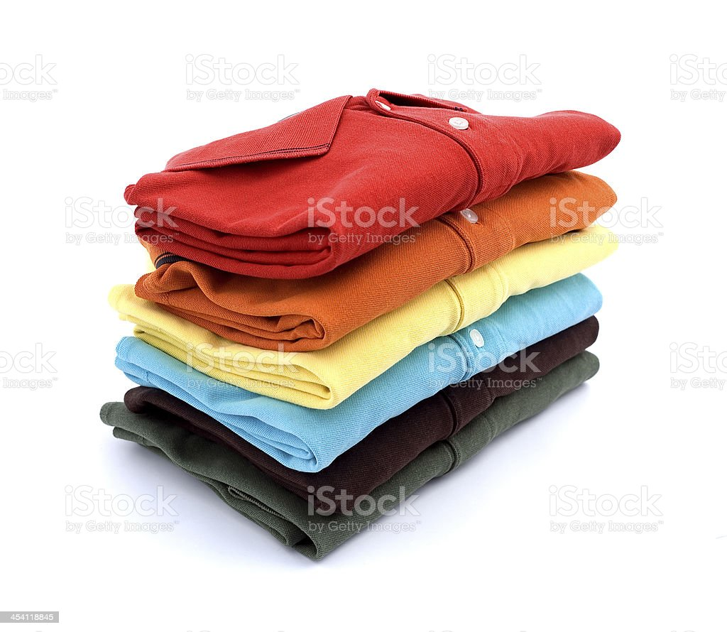 Colored T-shirts stock photo