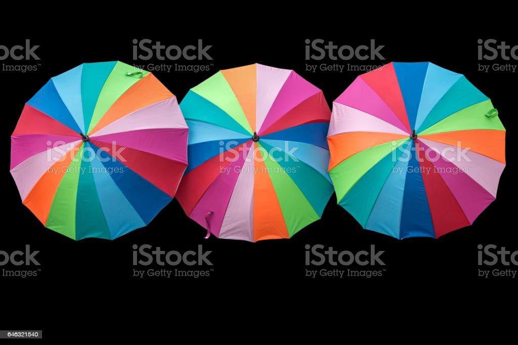 Colored umbrella stock photo