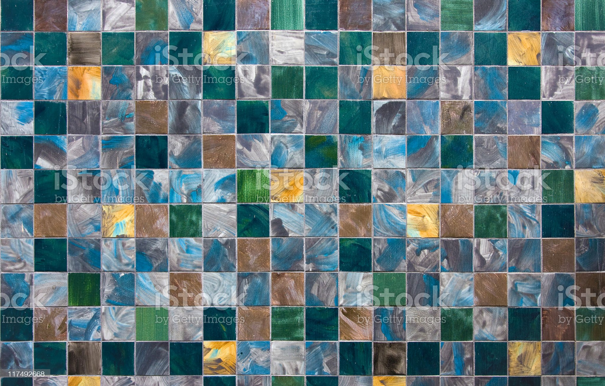 Colored wall tile royalty-free stock photo