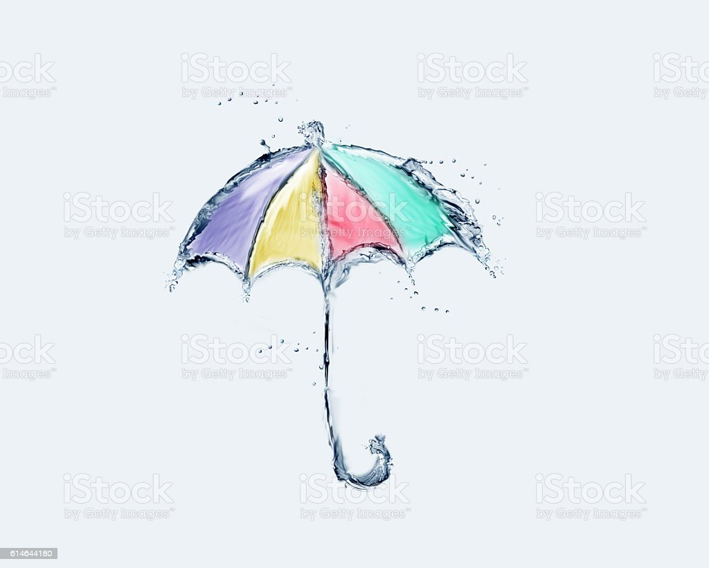 Colored Water Umbrella royalty-free stock photo