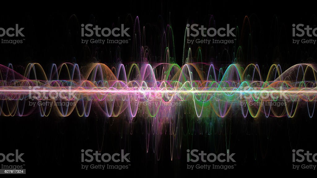 colored waves, scientific and technological design element stock photo