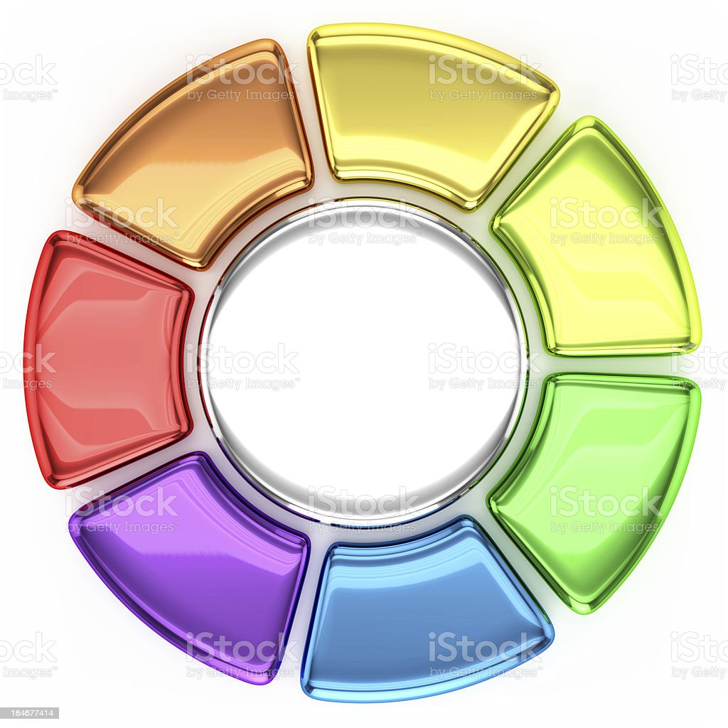 Colored Wheel Chart stock photo