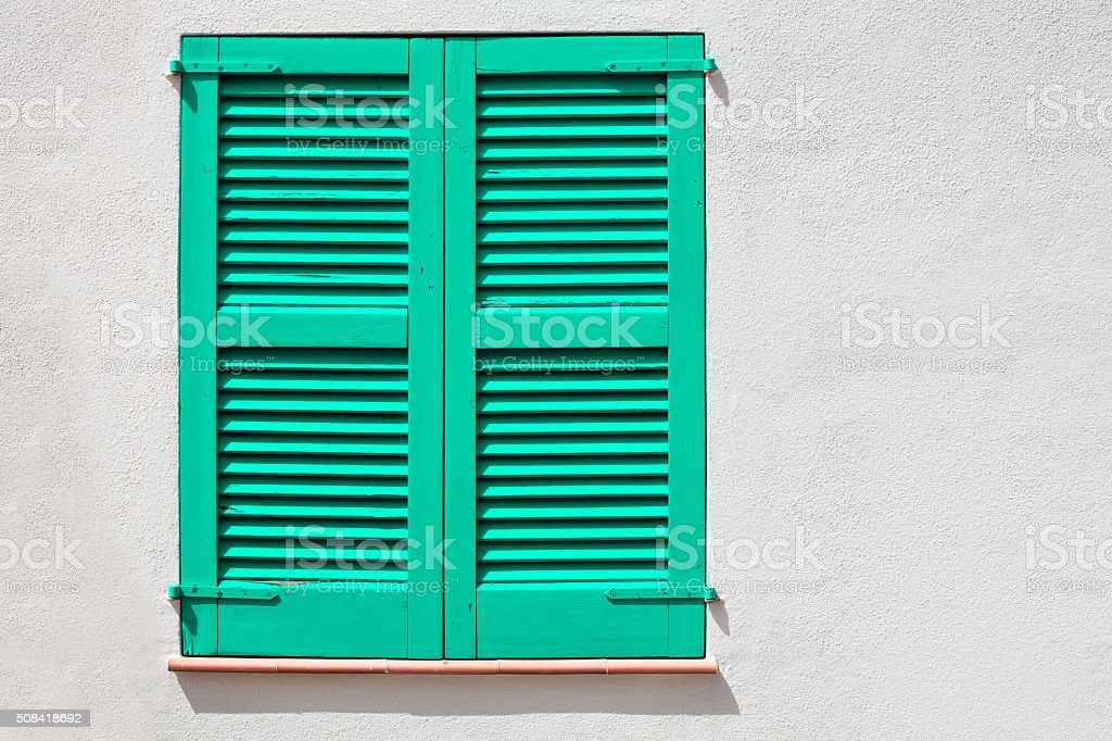 Colored window stock photo