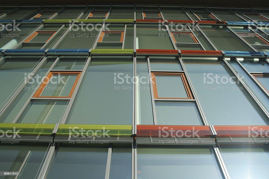 Colored windows stock photo